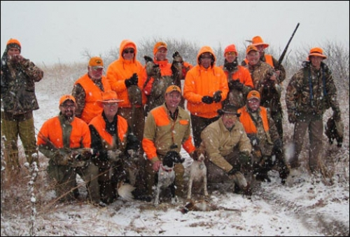 When Snow Falls on Kansas Pheasant Fields