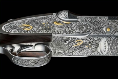 Beretta's Izumi Project Joins Italian and Japanese Artisans in a Remarkably Matched SO6EELL Shotgun and Samurai Dagger