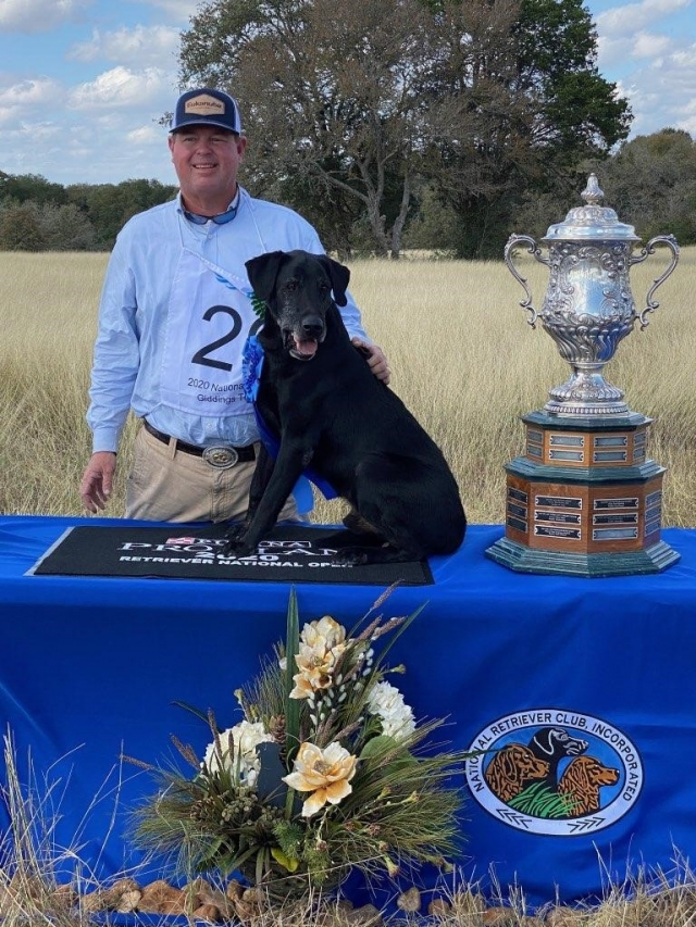 EUKANUBA PRO TRAINER AL ARTHUR OF SANDHILL RETRIEVERS WINS THE 80TH U.S. NATIONAL OPEN RETRIEVER CHAMPIONSHIP